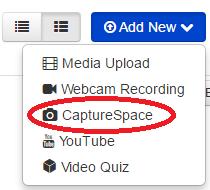 CaptureSpace Dropdown