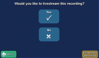 live stream selection page