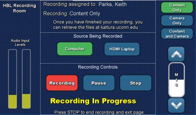 final recording screen
